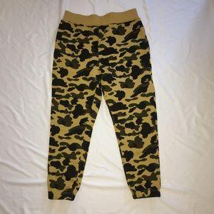 Bape Pants - Bape A Bathing Ape 1st Camo Yellow Sweatpants d66045685d86